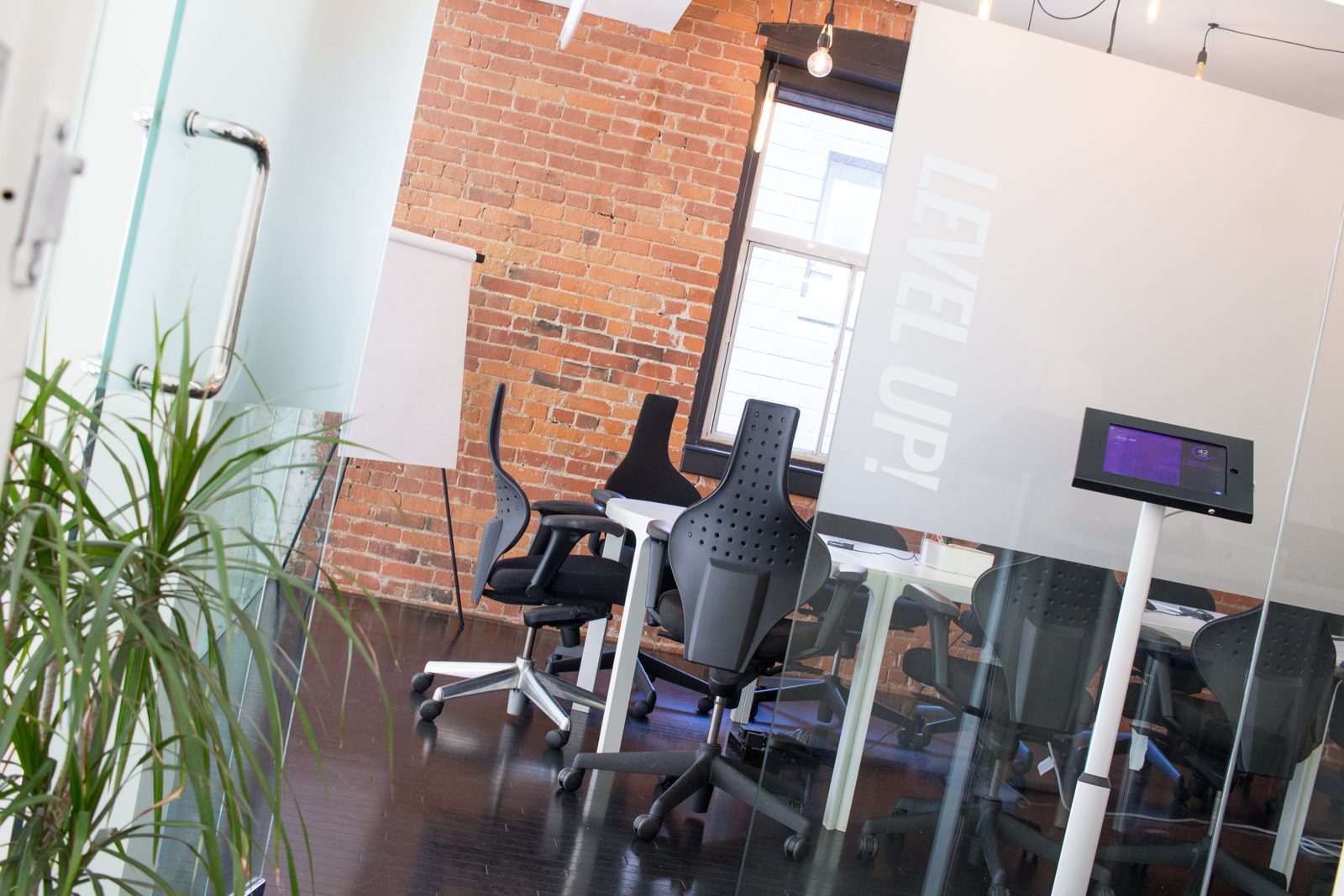 """""""Level Up"""" - A large conference room for meetings at StartWell"""
