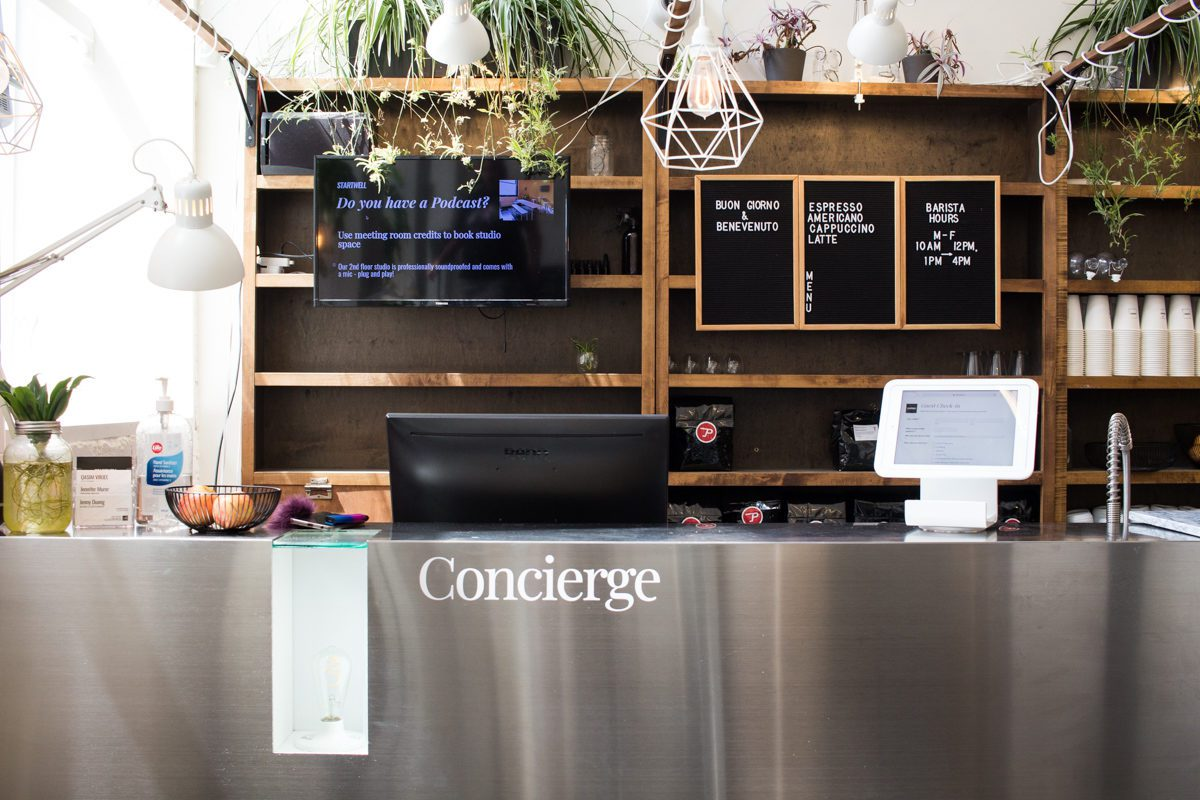 StartWell's Concierge at Reception is available for member support