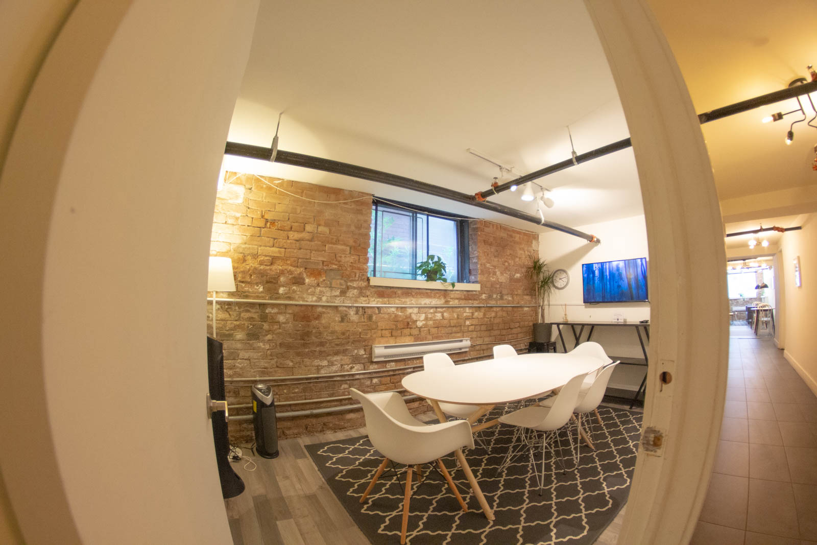 """""""Rewind"""" is a cosy private room for small meetings of 6 or less"""